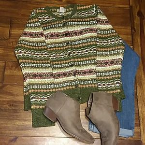 Mountain Lakes Large Ladies Cardigan Sweater